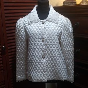 Christian Dior Vintage Quilted Satin Jacket